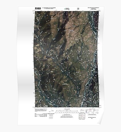 USGS Topo Map Washington State WA Doe Mountain 20110509 TM Poster