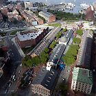 Arial view of Faneuil Hall Marketplace by John Gaffen