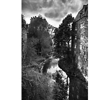 The Water of Leith at Dean Village B&W Photographic Print