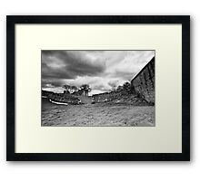 Pendragon Castle BW Framed Print
