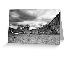 Pendragon Castle BW Greeting Card