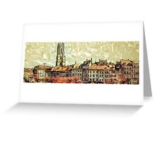 Bourg area in Fribourg (Switzerland) Greeting Card