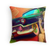Lusty DeVille   Throw Pillow