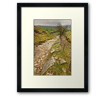 Track Up Penhill Framed Print