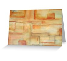 abstract burnt sienna Greeting Card