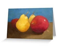 apple and pears Greeting Card