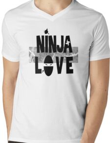Ninja Love Mens V-Neck T-Shirt