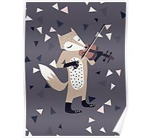 FOXY VIOLINIST Poster