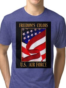 FREEDOM'S COLORS Air Force Tri-blend T-Shirt