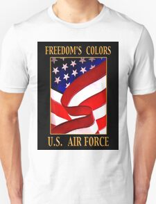 FREEDOM'S COLORS Air Force Unisex T-Shirt