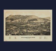Panoramic Maps Williamstown Mass Kids Tee