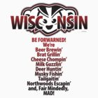 Mad Badger Wisconsin Forwarned We're MAD by gstrehlow2011