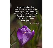 Philippians 1:6 Photographic Print