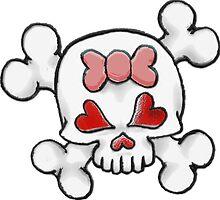 Girly Skull 2 by sensameleon