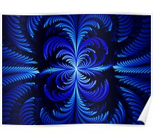 Blue Feathering  Poster