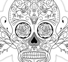 Black Sugar Skull Sticker