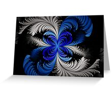 Elliptic Crested Feathers  Greeting Card