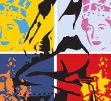 Hot Queen stencil in Camden Town Sticker