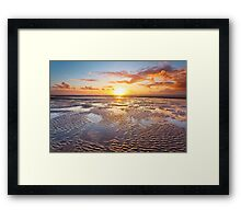 Formby Beach Sunset 1 Framed Print