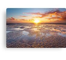 Formby Beach Sunset 1 Canvas Print