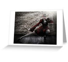 Alley Fight Greeting Card