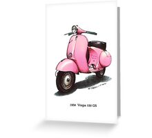 1958 Vespa 150 gs motorbike Greeting Card