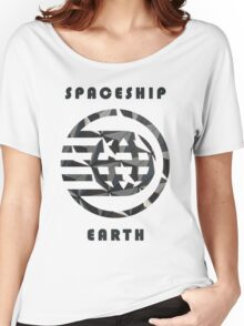 Spaceship Earth Pattern  Women's Relaxed Fit T-Shirt