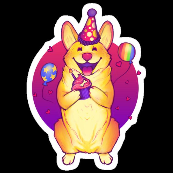 Birthday Corgi! by MeganLara