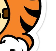 Tiger Suit Sticker