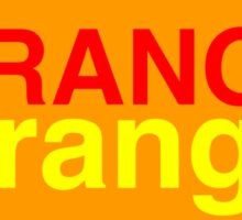 Orange # 1 Sticker