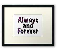 Always and Forever Naley Framed Print