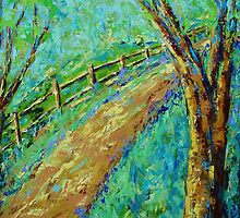 Sunny Country Road-II by KAT Griffin