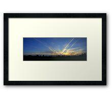 Sunset Squadron Framed Print