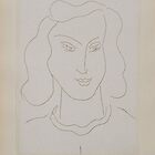 Face with eyes fixed on the ground, 1946 by Henri Matisse by masterworks
