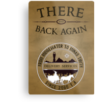 There and Back Again - Delivery Services Metal Print