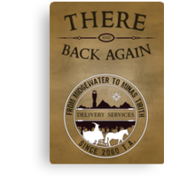 There and Back Again - Delivery Services Canvas Print