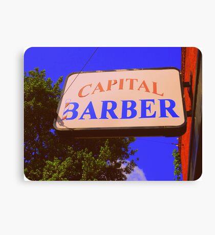 Capital Barber Canvas Print