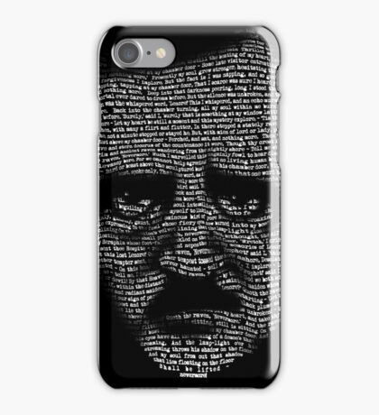 Edgar Allan Poe Nevermore Text Portrait iPhone Case/Skin