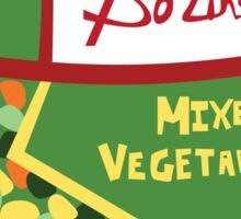Wet Hot Mixed Vegetables Sticker
