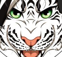 Headphone White Tiger Sticker