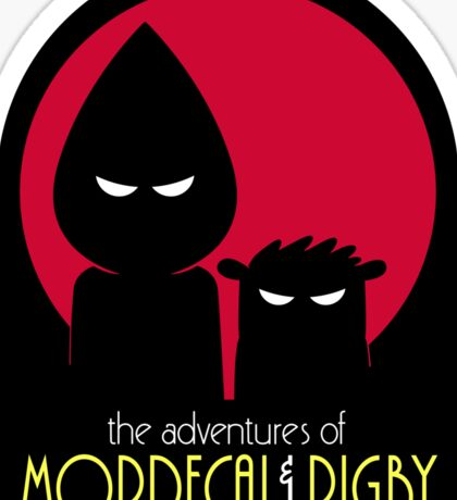 The Adventures of Mordecai & Rigby Sticker