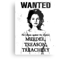 Wanted - Snow White Metal Print