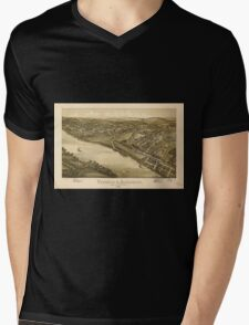 Panoramic Maps Verona & Oakmont Allegheny County Pennsylvania 1896 Mens V-Neck T-Shirt