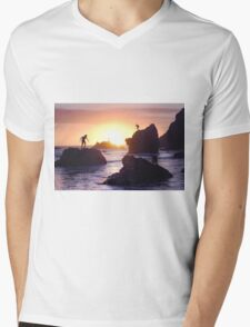 Meanwhile, in Malibu. Mens V-Neck T-Shirt