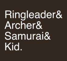 Ringleader, Archer, Samurai, Kid - The Walking Dead by terimseal