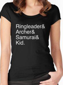 Ringleader, Archer, Samurai, Kid - The Walking Dead Women's Fitted Scoop T-Shirt