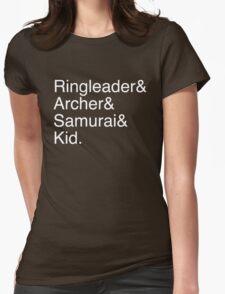 Ringleader, Archer, Samurai, Kid - The Walking Dead Womens Fitted T-Shirt
