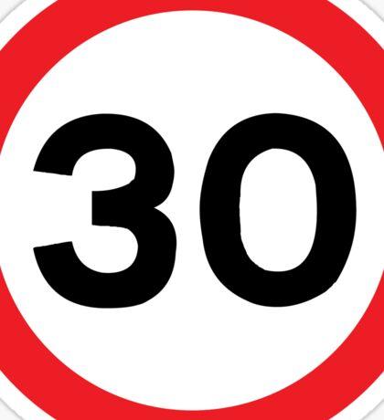 Speed Limit 30 Road Sign Die Cut Sticker Sticker