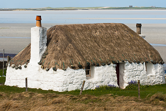 Building, Cottage, Thatched, White walls by Hugh McKean