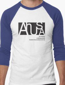 AHUSA Black Men's Baseball ¾ T-Shirt